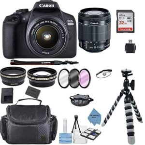 Canon EOS 2000D Rebel T7 Kit with EF-S 18-55mm f3.5-5.6 III Lens + Accessory Bundle