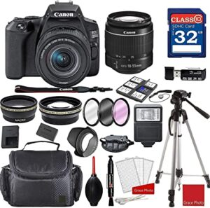 Canon EOS 250D - Rebel SL3 DSLR Camera with 18-55mm III Lens - Professional Accessory Bundle